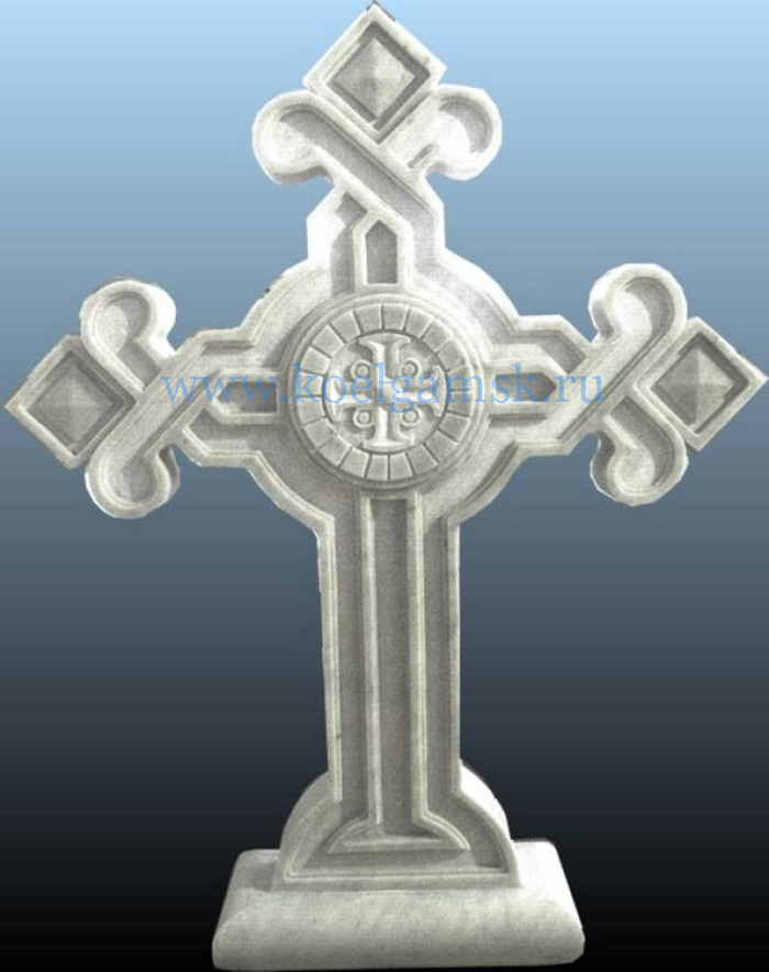 Надгробие крест купить Цоколь резной из габбро-диабаза Емва