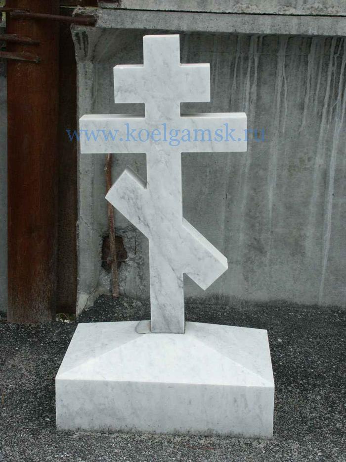 Надгробие белый мрамор памятник с семейный Лесозаводск